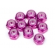 ALUMINUM LOCK NUT M5 (PURPLE/10pcs)
