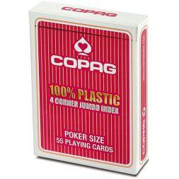 COPAG kortos Plastic Jumbo Index (Red)