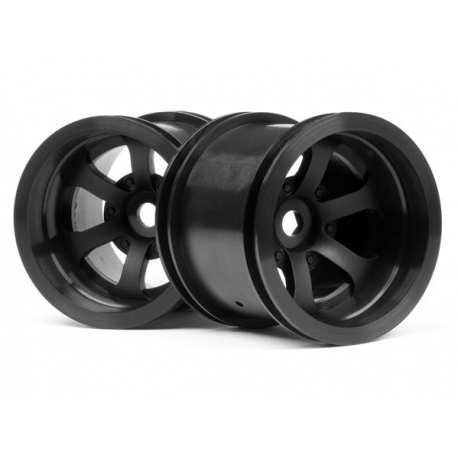 SCORCH 6-SPOKE WHEEL BLACK (2.2in/2pcs)