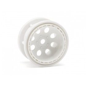 ROCK 8 BEAD LOCK WHEEL WHITE (55x36mm/2pcs)