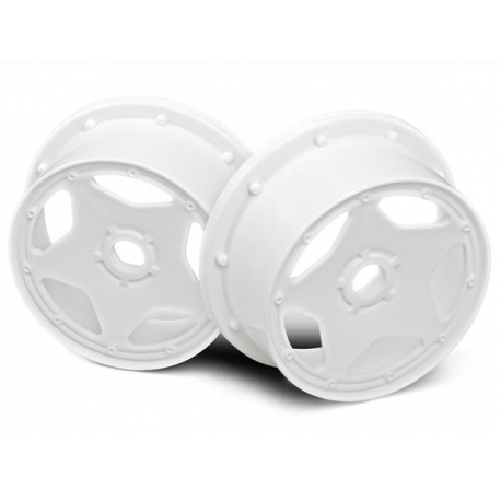 SUPER STAR WHEEL WHITE (120x60mm/2pcs)