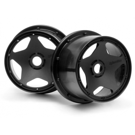 SUPER STAR WHEEL BLACK (120x75mm/2pcs)