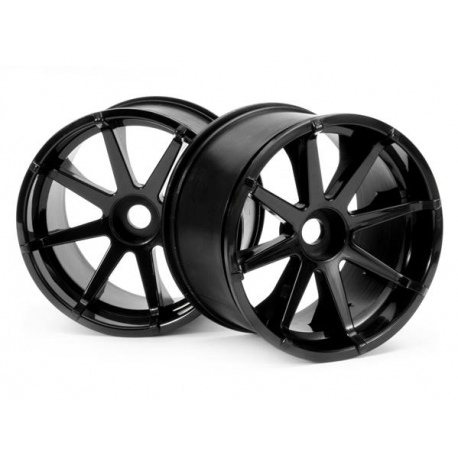 BLAST WHEEL BLACK (115x70mm 7inch/2pcs)