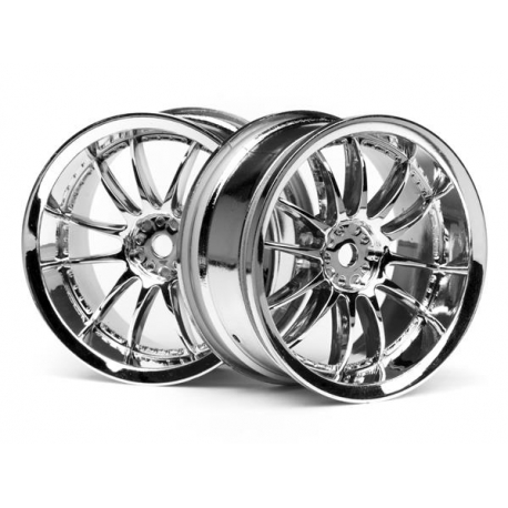 WORK XSA 02C WHEEL 26mm CHROME (3mm OFFSET)