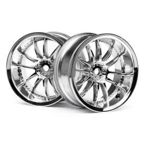 WORK XSA 02C WHEEL 26mm CHROME (6mm OFFSET)