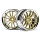 WORK XSA 02C WHEEL 26mm CHROME/GOLD (3mm OFFSET)