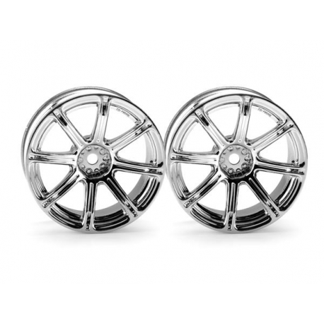 WORK EMOTION XC8 WHEEL 26mm CHROME (6mm OFFSET)
