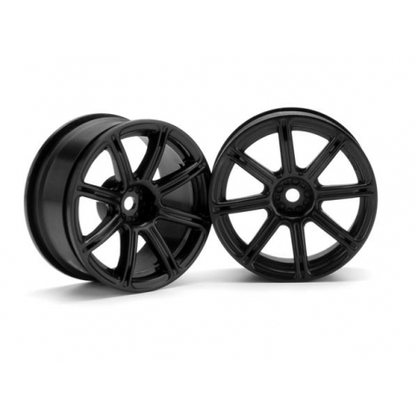 WORK EMOTION XC8 WHEEL 26mm BLACK (3mm OFFSET)