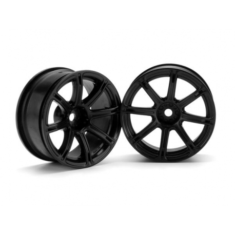 WORK EMOTION XC8 WHEEL 26mm BLACK (6mm OFFSET)
