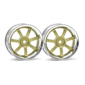 RAYS GRAM LIGHTS 57S-PRO CHROME/GOLD (3mm OFFSET)