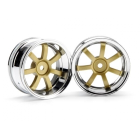 RAYS GRAM LIGHTS 57S-PRO CHROME/GOLD (6mm OFFSET)