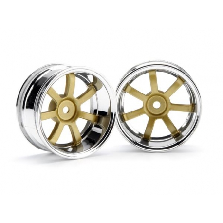 RAYS GRAM LIGHTS 57S-PRO CHROME/GOLD (9mm OFFSET)