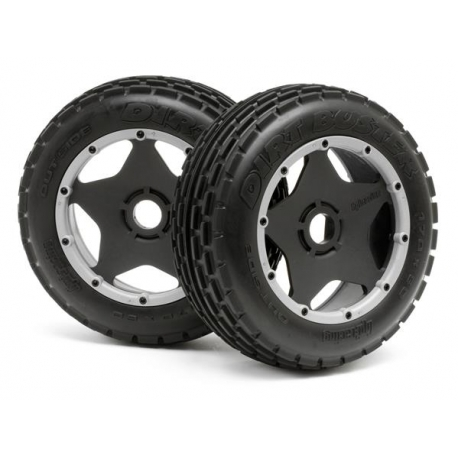 DIRT BUSTER RIB TIRE M COMPOUND on BLACK WHEEL
