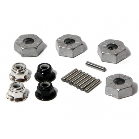 HEX WHEEL HUB 14mm (SILVER/4pcs)