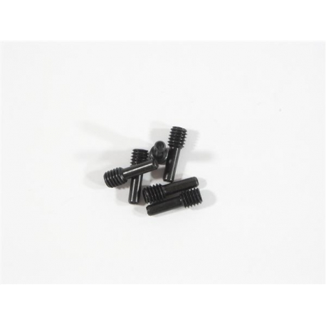 SCREW SHAFT M4x2.5x12mm (BLACK/6pcs)