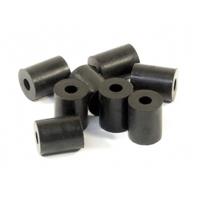 RUBBER TUBE 3x8x10mm (SHAPED/BLACK/8pcs)