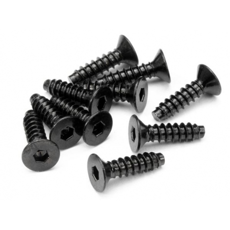 TP. FLAT HEAD SCREW M4x15mm (HEX SOCKET/10pcs)