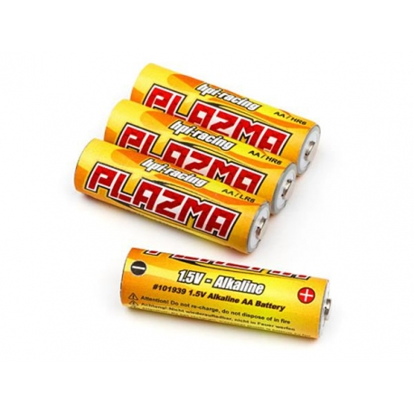 HPI Plazma 1.5V Alkaline AA Battery (4Pcs)