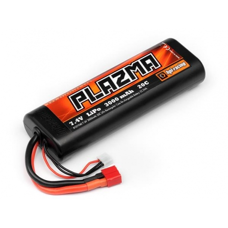HPI Plazma 7.4V 3000mAh 20C Lipo Round Case Stick Pack Re-Chargeable Battery