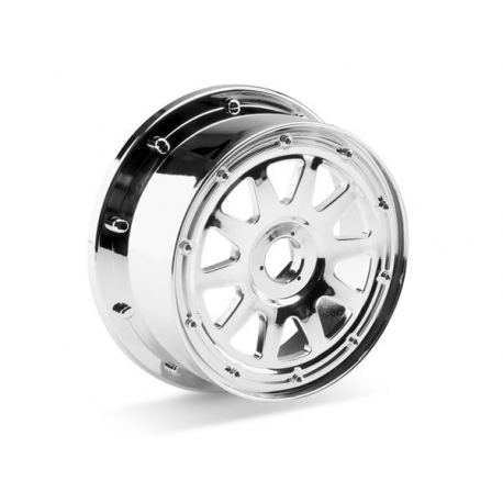 TR-10 WHEEL CHROME (120x60mm/-4mm OFFSET)