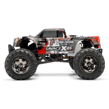 NITRO GT-3 TRUCK PAINTED BODY (GRAY/RED/BLACK)