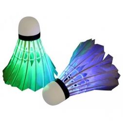 Badmintono skraidukai LED, 5 spalvos