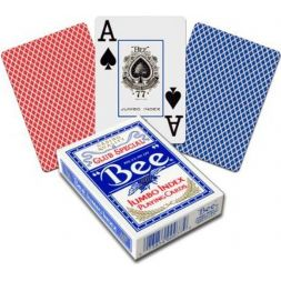 Bee Jumbo Cards Index Red & Blue
