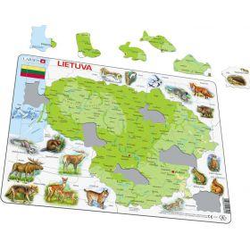 """Dėlionė """"Lietuvos gamtos žemėlapis"""""""