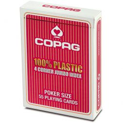 COPAG kortos Plastic Jumbo Index (Red)