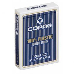 COPAG kortos Plastic Jumbo Index (Blue)
