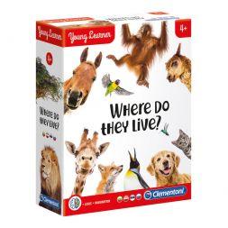 Lavinamasis žaidimas: Kas kur gyvena?
