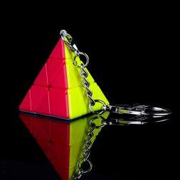 Rubiko kubas Pyraminx Keychain