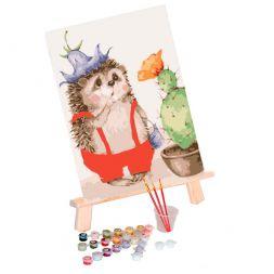 Paint by Numbers (20x30): Surprised Hedgehog