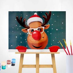 Paint by Numbers (20x30): Rudolph the Red-Nosed Reindeer