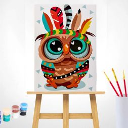 Paint by Numbers (20x30): Owl - The Indian