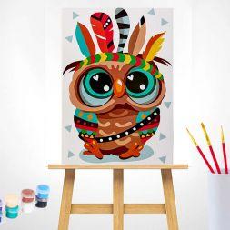 Tapypos rinkinys (20x30): Owl - The Indian