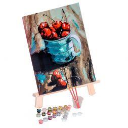 Tapypos rinkinys (30x40): Cherry in a mug