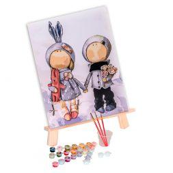 Tapypos rinkinys (30x40): Doll Anna and Mark