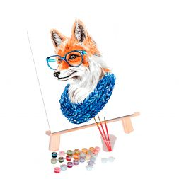 Paint by Numbers (30x40): Fox with Glasses