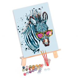 Paint by Numbers (30x40): Zebra with Glasses