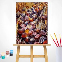Tapypos rinkinys (40x50): Autumn Umbrellas