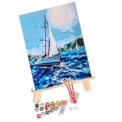 Paint by Numbers (40x50): Under the white sail