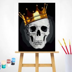 Paint by Numbers (40x50): Fashionable Skull