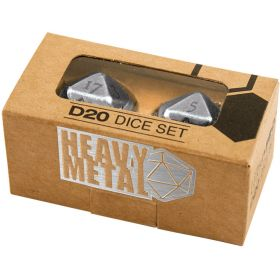 Dice Set D20 Heavy Metal Chrome