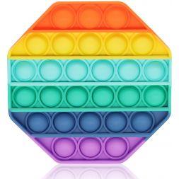 Antistress toy POP IT (rainbow octagon)