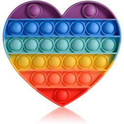 Antistress toy POP IT (rainbow heart)