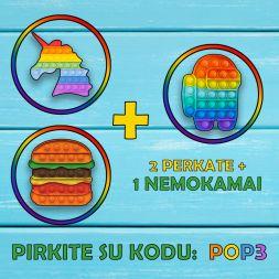 3 POP IT UŽ 2 KAINĄ!