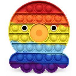 Antistress toy POP IT (rainbow octopus)