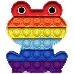 Antistress toy POP IT (rainbow frog)
