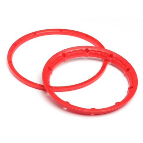 HEAVY DUTY WHEEL BEAD LOCK RINGS (RED/for 2 Wheels)